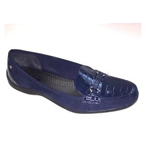 KAREN SCOTT blue suede /patent leather loafers 8M